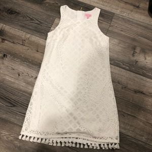 White lace & tassel Lilly Pulitzer size small